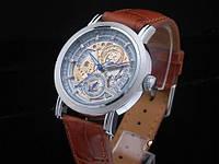 Часы механические наручные GOER date automatic коричневые