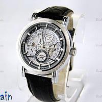 Часы мужские наручные механические GOER date automatic черные