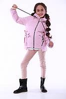 Куртка подростковая стильная весна на девочку 128-158см купить оптом со склада 7км одесса