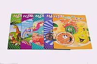 Раскраска детская: наклейки - 2 листа, раскраска - 8 листов, А4, в ассортименте