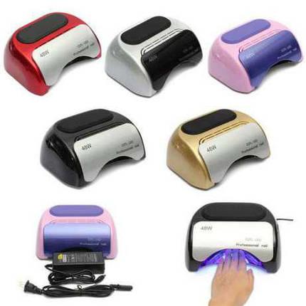 Ультрафиолетовая LED+CCFL гибридная лампа 48 Вт, для гель лаков и геля (УФ лампа для ногтей), фото 2