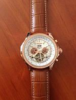 Часы наручные механические Breitling Skeleton Коричневые