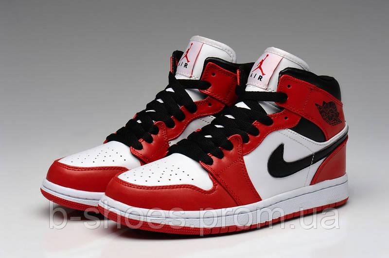 d7c45a6a Мужские кроссовки Air Jordan Retro 1 (Chicago/White/ VarsityRed/Black) -