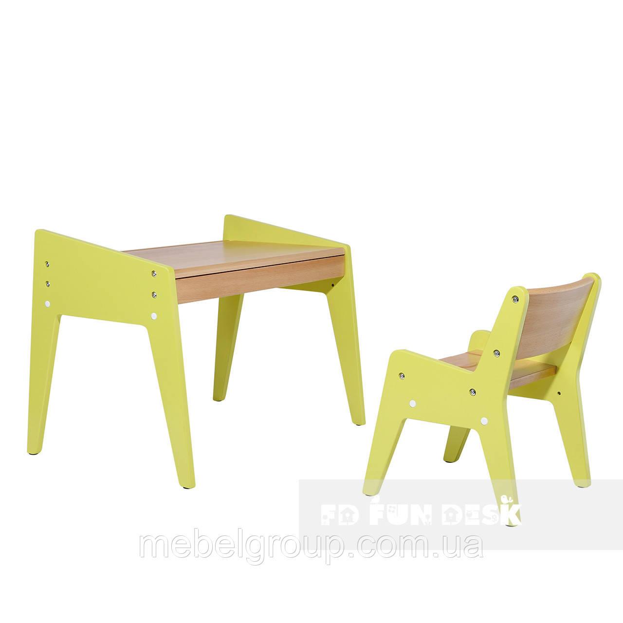 Дитячий стіл і стільчик FunDesk Omino Green