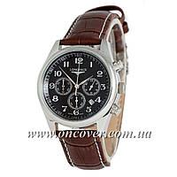 Наручные часы Longines quartz Chronograph Silver/Black