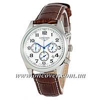 Наручные часы Longines quartz Chronograph Silver/White