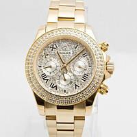 Часы механические наручные Rolex daytona automatic with diamonds gold