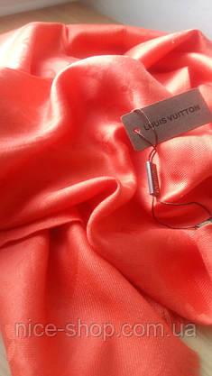 Палантин Louis Vuitton коралловый, фото 2
