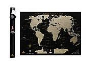 Скретч карта мира My Map Black edition Gold (английский язык) в тубусе