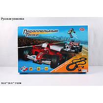 Трек Параллельные гонки 360 см,2 машинки, ручной генератор,0865