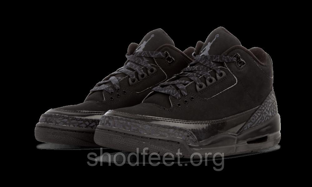 Баскетбольные кроссовки Air Jordan Retro 3 Black Cat