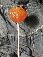 Мандарин очищенный, конфета  3D, леденец на палочке
