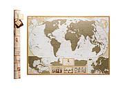 Скретч карта мира My Map Antique edition CARIBBEAN (английский язык) в тубусе