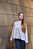 Рубашка - туника женская белая, дизайнерская модная одежда, Likey, Украина