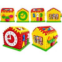 Развивающая обучающая игрушка Логический Домик, сортер, часы, счети т.п., Украина,50-301