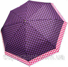 Приятный складной зонт Doppler Alu/Fiberglas 7440265P, автомат, фиолетовый, Антиветер