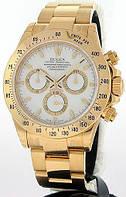 Часы механические наручные Rolex daytona automatic Gold with white
