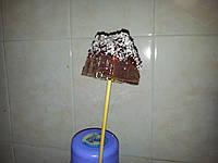 Домик новогодний под снегом 3D, конфета на палочке, 8 см