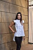 """Рубашка - туника женская белая """"Марсель"""", дизайнерская модная одежда, Likey, Украина"""