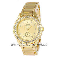 Наручные кварцевые часы Rolex Diamond B3 Gold