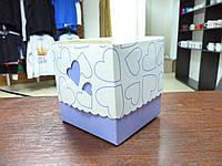 Подарочная коробка для чашки, сиреневая