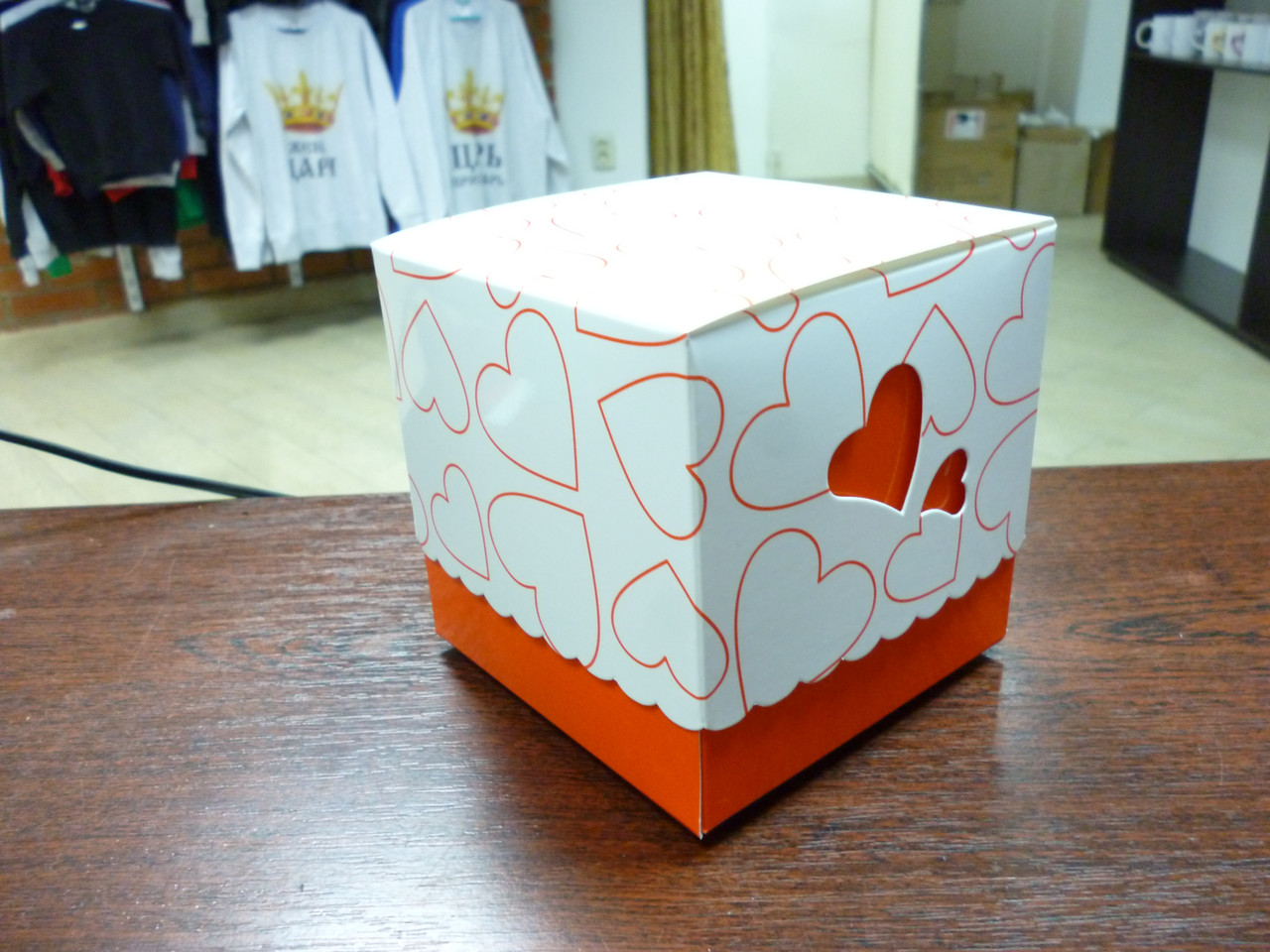 Подарочная коробка для чашки, оранж