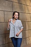"""Рубашка  женская в полоску """"Одри"""", дизайнерская модная одежда, Likey, Украина"""