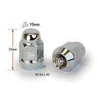Гайка 401448 Cr M14X1,50 Хром высота 35 мм Конус с выступ., закр., ключ 19мм