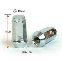 Гайка 411948 Z M14X1,50 Цинк высота 48 мм Конус с выступ., закр., ключ 19мм