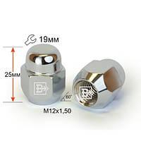 Гайка 601145 Cr M12X1,50 Хром высота 25 мм Конус, закр., ключ 19мм