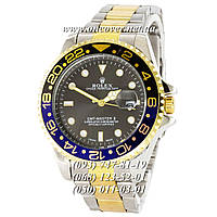 Кварцевые наручные часы Rolex GMT-Master II Quarts Silver-Gold-Blue-Black