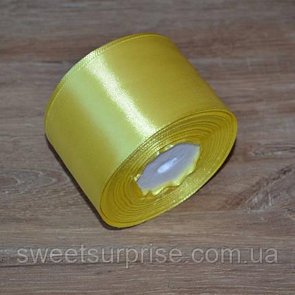 Лента атласная 48 мм (желтый), фото 2