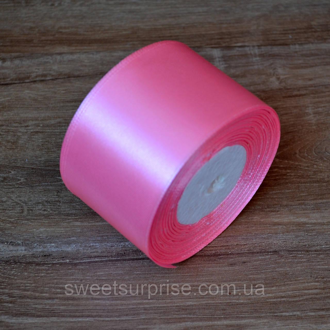Лента атласная 48 мм (розовый)