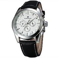 Механические наручные часы Forsining Elit silver+white