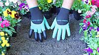 Перчатки для работы в саду и огороде с когтями Garden Genie Gloves