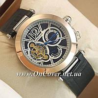Наручные механические часы Cartier calibre de cartier Gold/Black-white