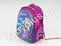 Рюкзак твердый спереди. Спинка твердая с мягкими нашивками Princess