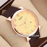 Часы наручные кварцевые Hermes Vintage BrownPurpleGold