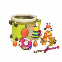 Музыкальная игрушка – ПАРАМ-ПАМ-ПАМ (7 инструментов, в барабане) от Battat - под заказ - ОПТ
