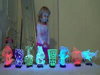 3D светильники, 7 разных цветов света, 3 режима мерцания. Подробнее...