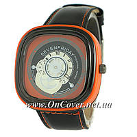 Кварцевые часы Sevenfriday Leather Orange-Black