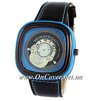 Кварцевые часы Sevenfriday Leather Sky-Blue-Black