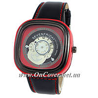 Кварцевые часы Sevenfriday Leather Red-Black