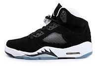 Мужские кроссовки Air Jordan Retro 5 (Black/White), фото 1