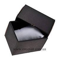 Картонная коробка для часов черная