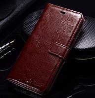 Кожаный чехол-книжка для Xiaomi Mi5s Mi 5s коричневый