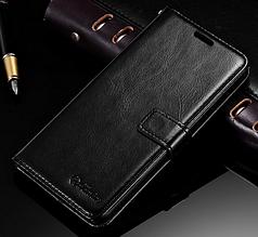 Кожаный чехол-книжка для Xiaomi Mi6 Mi 6 черный
