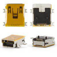 Коннектор зарядки для мобильных телефонов Motorola A1200, E380, E680, E770, K1, K2, V360, V3x, V3xx, W220, Z3, Z6, 5 pin, mini-USB тип-B