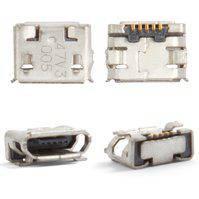Коннектор зарядки для мобильных телефонов Nokia 6500c, 7900, 8800 Arte; Sony Ericsson W100, X10 mini, 5 pin, micro-USB тип-B