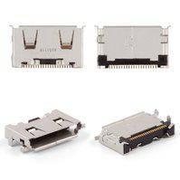 Коннектор зарядки для мобильных телефонов Samsung C3050, I6220, M8800, S3310, S5230 Star, S5230 TV, S5230W, S5233, S7330, original, #3710-002681